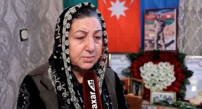 """Şəhid anası: """"Oğlumun bir sözü var idi: Ya tarix yazacağam, ya da tarixdə q ..."""