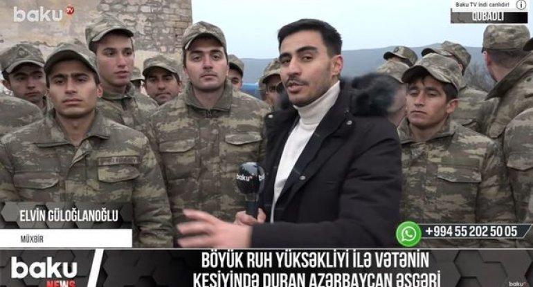 Böyük ruh yüksəkliyi ilə Vətənin keşiyində duran Azərbaycan əsgəri - VİDEO
