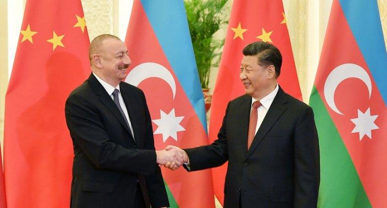 Çin lideri Azərbaycan Prezidentini təbrik edib