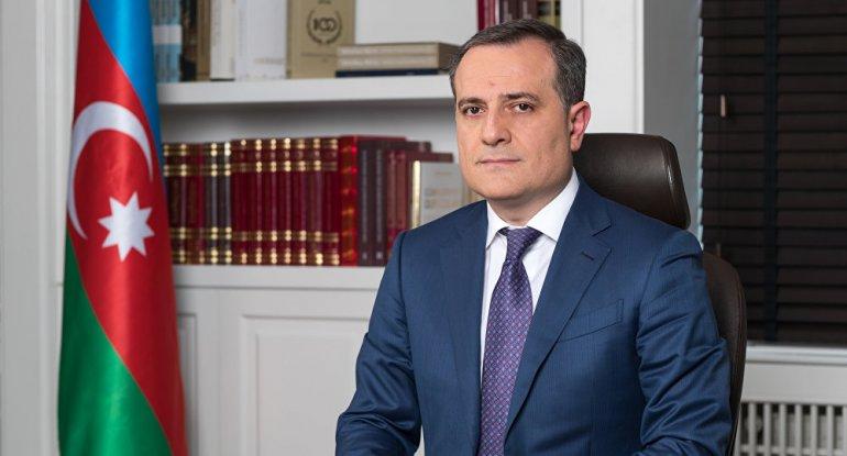 Ceyhun Bayramov prezidenti təbrik etdi - FOTO