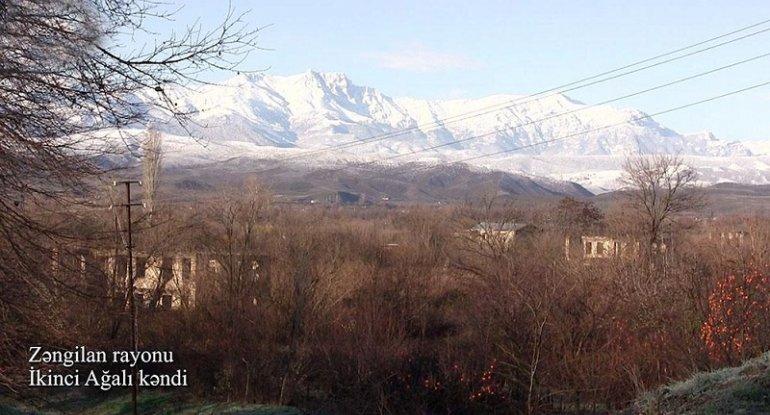 Zəngilanın İkinci Ağalı kəndinin görüntüləri (VİDEO)