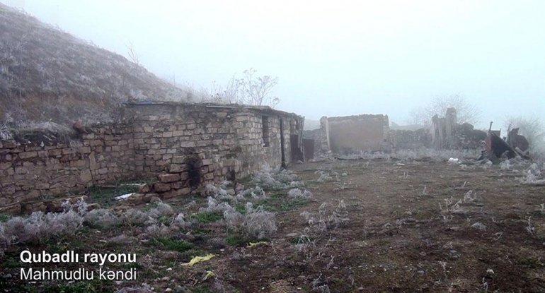 Qubadlının Mahmudlu kəndindən görüntülər - VİDEO