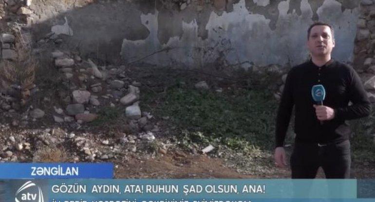 Jurnalist Zəngilandakı evlərini taparkən göz yaşlarına hakim ola bilmədi - VİDEO