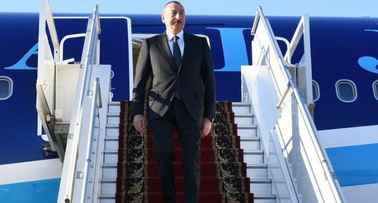 Prezident İlham Əliyevin Rusiyaya səfəri başlayıb
