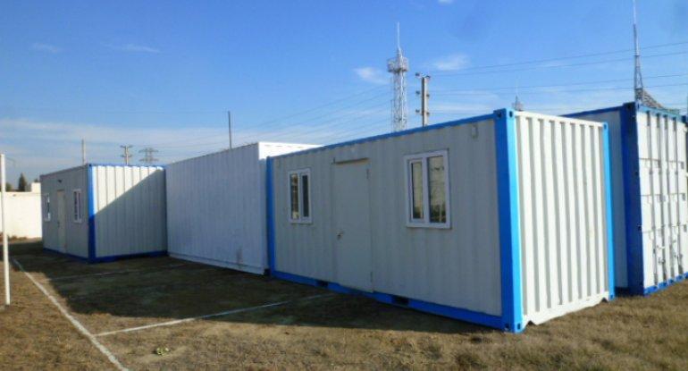 Rusiya Azərbaycana 15 mobil konteyner göndərdi - VİDEO