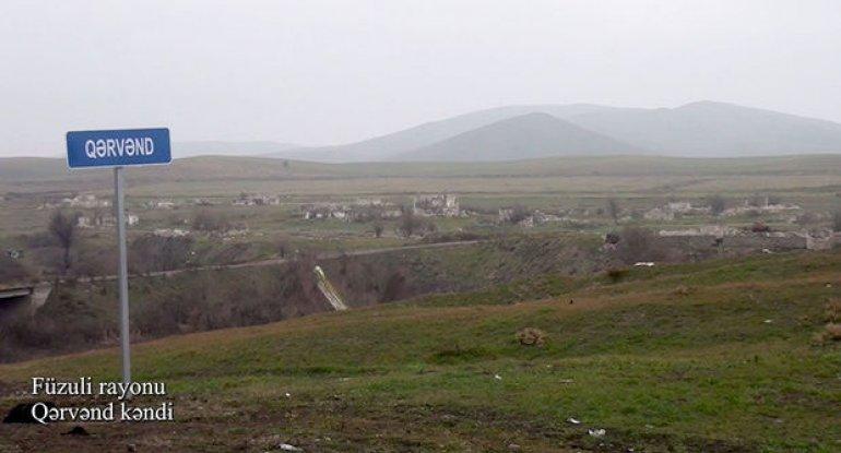 İşğaldan azad edilmiş Füzulinin daha bir kəndindən görüntülər - VİDEO