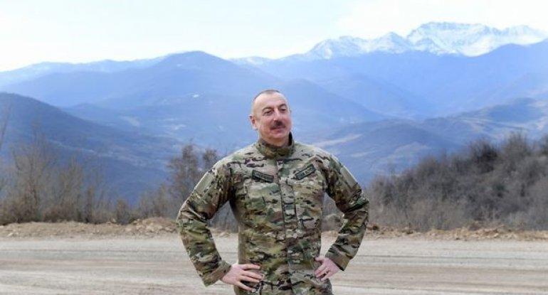 """Prezident: """"Cəmi iki ay ərzində Şuşaya yol açmışıq"""" - VİDEO"""
