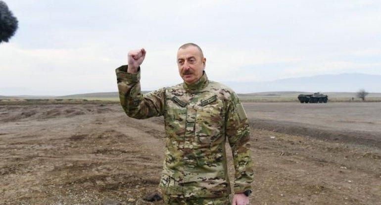 """Prezident: """"Xocavənd rayonuna gedirik"""" - VİDEO"""