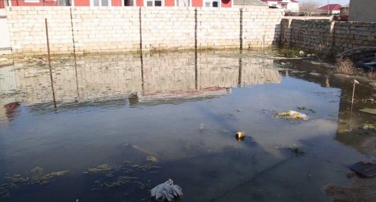 Suya qərq olan Ramana küçələri - VİDEO