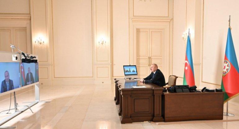 Prezident Mark Şnayeri videoformatda qəbul edib
