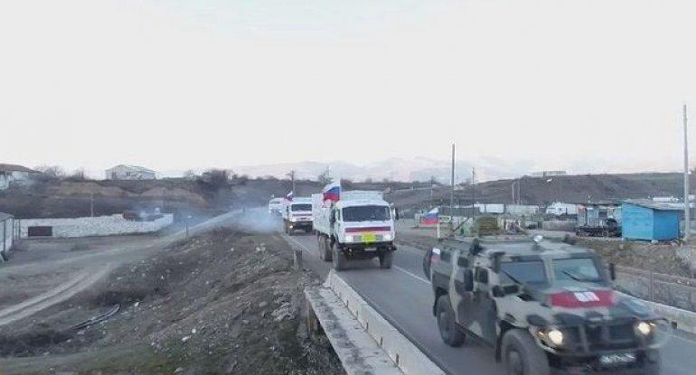 Rusiya sülhməramlıları Kəlbəcərə 150 ton humanitar yardım gətirib - FOTO