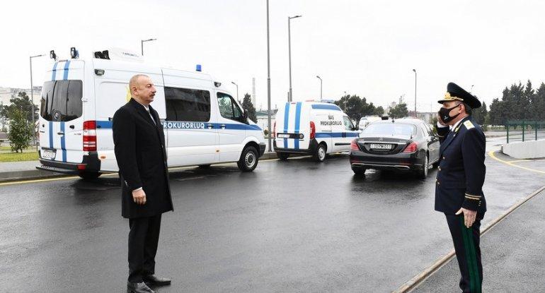İlham Əliyev Baş Prokurorluğun yeni inzibati binasının açılışında iştirak etdi - YENİLƏNİB + FOTO/VİDEO
