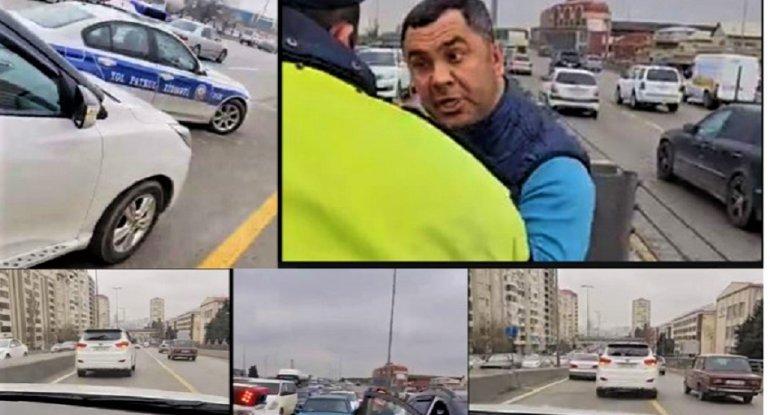 Bakı küçələrini bir-birinə qatan sürücü saxlanıldı - Polisləri yandırmaq istədi - FOTO