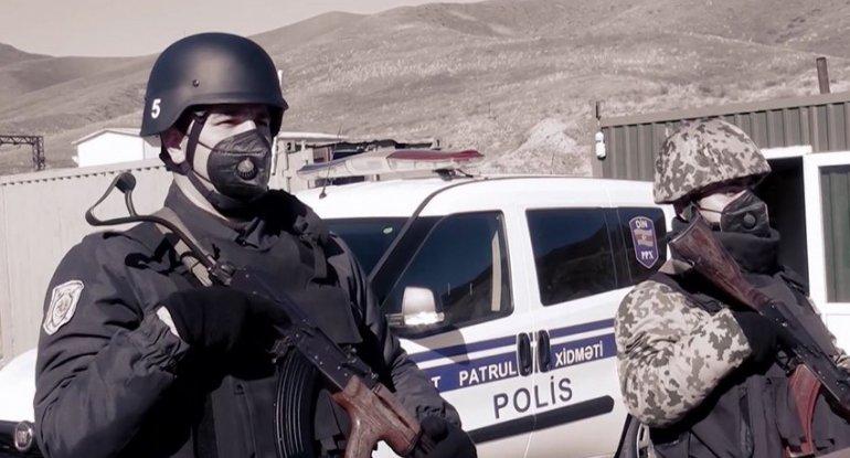 Polis işğaldan azad edilən ərazilərdə belə fəaliyyət göstərir - VİDEO