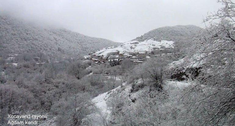 Xocavəndin Ağdam kəndinin görüntüləri - VİDEO