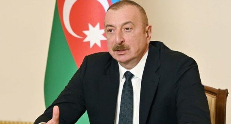 """İlham Əliyev: """"Ermənistanda indi tamamilə böhranlı vəziyyət hökm sürür"""""""