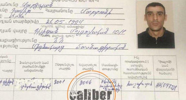 """""""Caliber"""": Kadr çatışmazlığı ilə üzləşən Paşinyandan qeyri-adi """"çıxış yolu"""" - FOTO"""