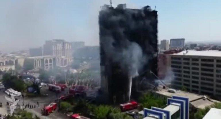 Bakıda 15 nəfərin yanaraq öldüyü binada daha bir HADİSƏ