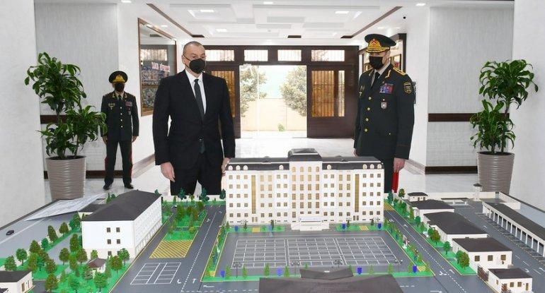 İlham Əliyev hərbi hissəsinin açılışında