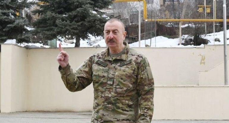 """Prezident: """"Azərbaycan Ordusu heç vaxt mülki əhaliyə qarşı müharibə aparmayıb"""""""