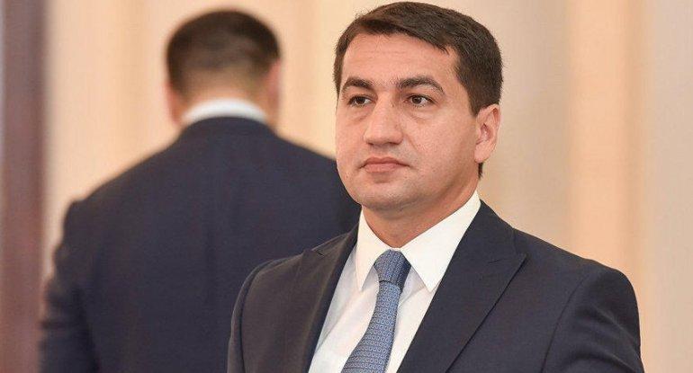 """Hikmət Hacıyev: """"Ermənistanın məsuliyyətsiz davranışı ciddi şəkildə pislənilməlidir"""" - FOTO"""