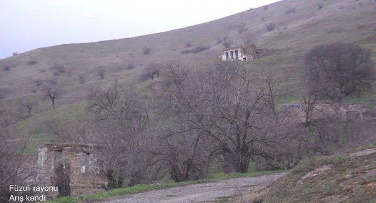 Füzuli rayonunun Arış kəndindən - VİDEO
