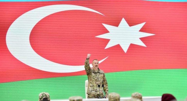 """Prezident: """"Ermənistan bizim qarşımızda diz çökmüş ölkədir, başını, boynunu bükmüş ölkədir"""""""