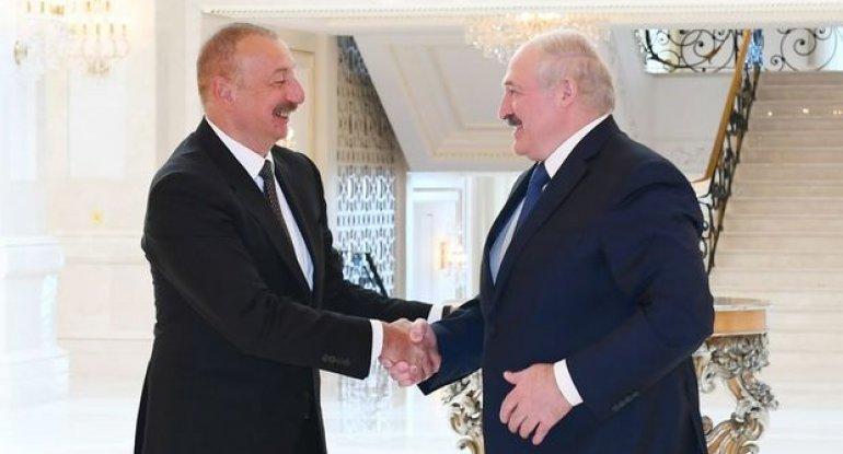 İlham Əliyev Azərbaycan-Belarus münasibətlərindən DANIŞDI