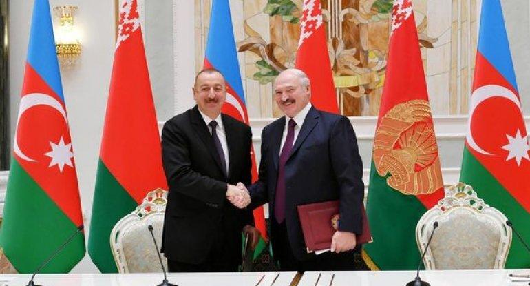 Azərbaycan və Belarus prezidentləri mətbuata bəyanatlarla çıxış ediblər
