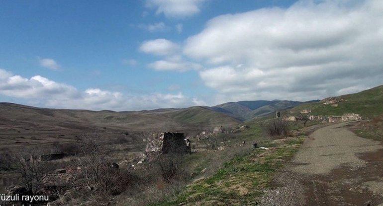 Ermənilərin Füzulidə viran qoyduqları daha bir kənddən görüntülər - VİDEO