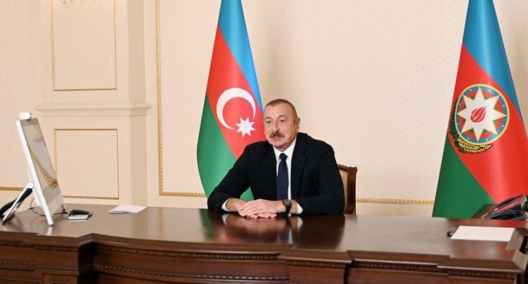 Azərbaycan Prezidenti Dünya İqtisadi Forumunun prezidenti ilə videokonfrans formatında görüşüb