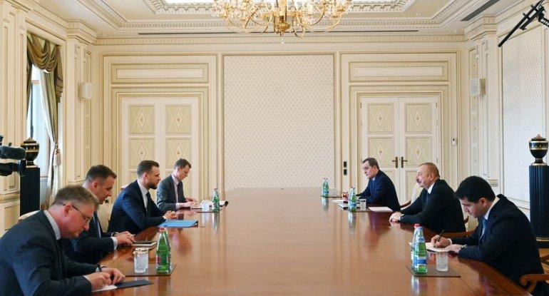 İlham Əliyev Litvanın xarici işlər nazirini qəbul edib