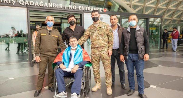 Türkiyəyə göndərilən iki qazimiz sağalaraq Vətənə döndü - FOTO