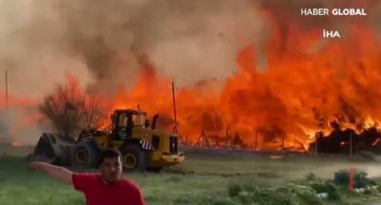 Türkiyədə biokütlə enerji stansiyasında güclü yanğın baş verib – FOTO/VİDEO