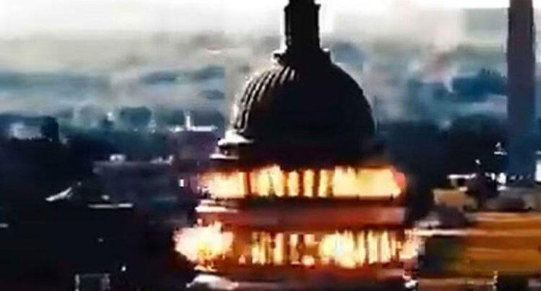"İran ABŞ konqres binasını raketlə ""vurdu"" - VİDEO"