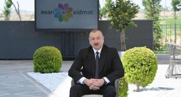 """İlham Əliyev Naxçıvanda """"ASAN xidmət"""" Mərkəzinin tikintisi ilə tanış olub"""