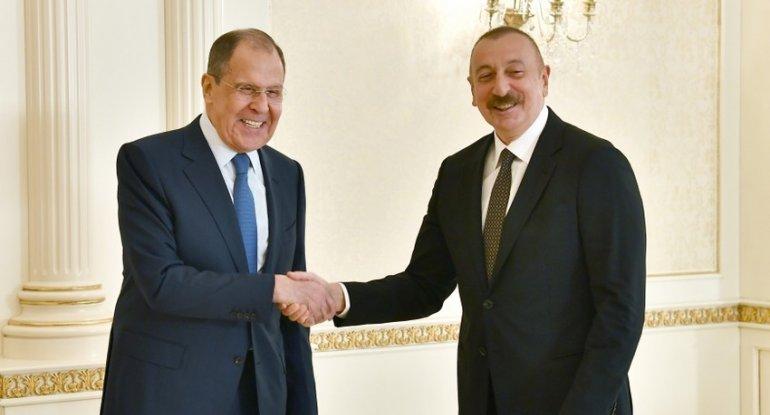 Prezident Rusiyanın xarici işlər nazirini qəbul etdi - FOTO