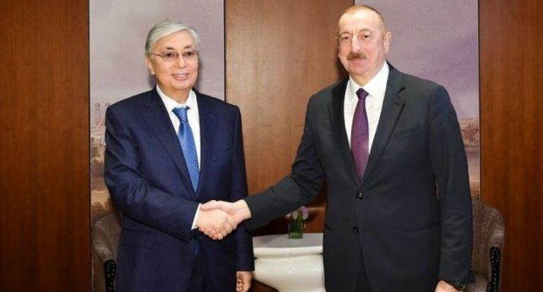 Azərbaycan və Qazaxıstan prezidentləri arasında telefon danışığı olub