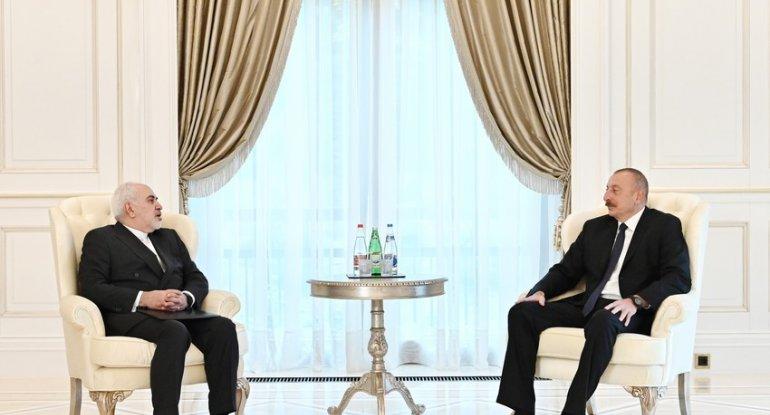 Prezident İranın xarici işlər nazirini qəbul edib - YENİLƏNİB