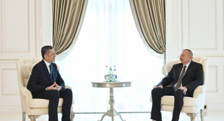 İlham Əliyev Türkiyənin milli təhsil nazirini qəbul edib