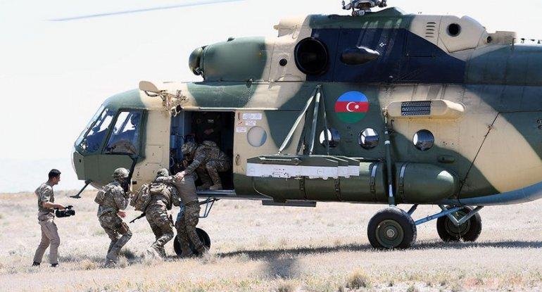 Azərbaycan hərbçilərinin iştirak etdiyi təlimdən görüntülər - VİDEO
