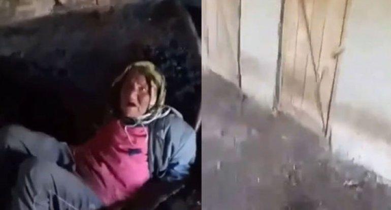 Azərbaycanda dəhşət: Ahıl qadının boğazına ip keçirib tövlədə saxladılar - VİDEO