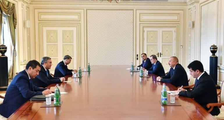 İlham Əliyev Qazaxıstan baş nazirinin müavinini qəbul etdi