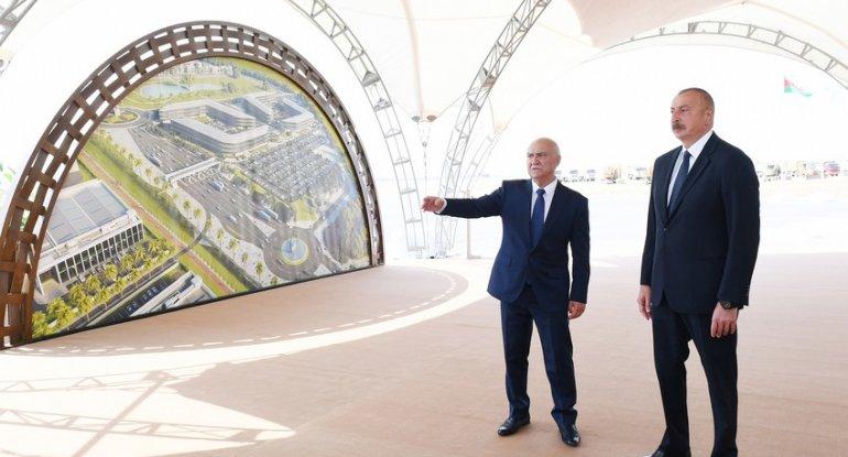 Prezident təməlqoyma mərasimində - FOTO