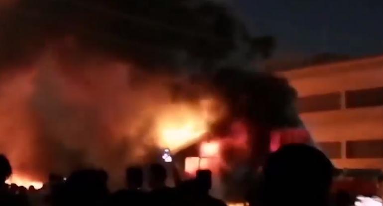 Xəstəxanada yanğın: 35 nəfər öldü - İraqda (VİDEO)