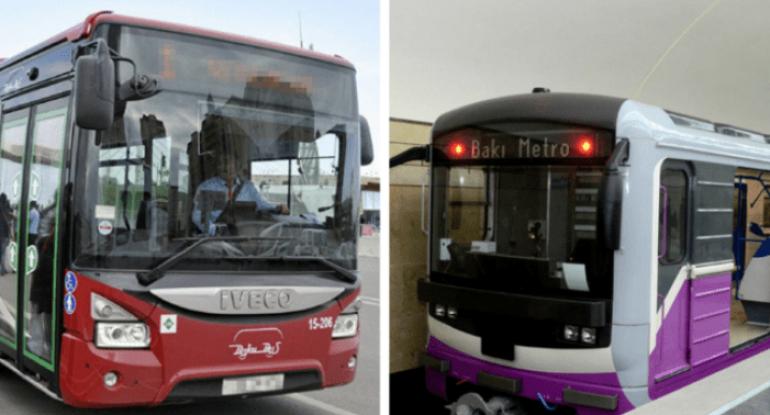 Bayram tətilində avtobus və metro işləyəcək? - RƏSMİ