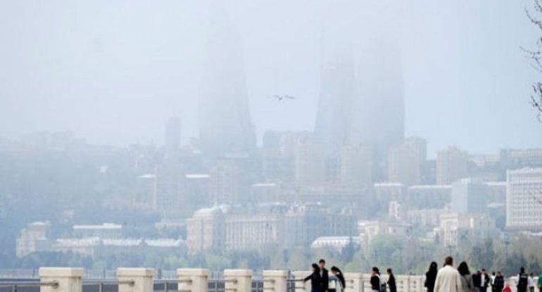 Havada toz dumanı müşahidə edilir