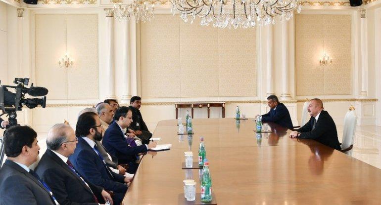 Azərbaycan Prezidenti Pakistan Milli Assambleyasının sədrini qəbul edib - YENİLƏNİB