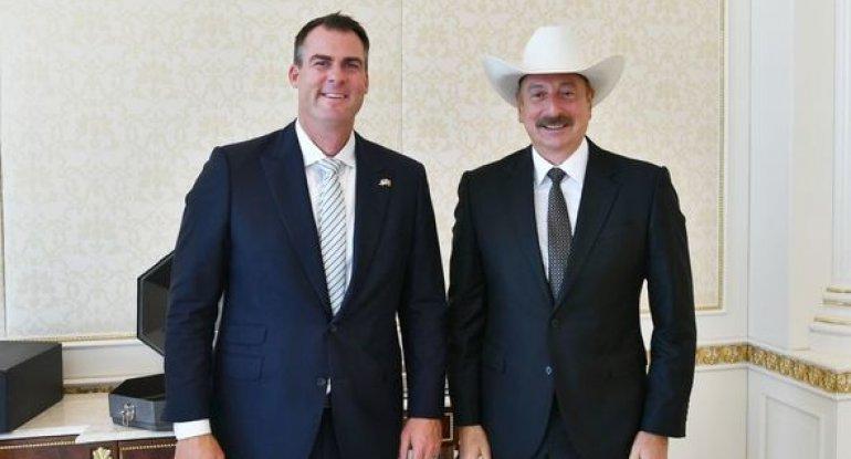 İlham Əliyev ABŞ-ın Oklahoma ştatının qubernatorunu qəbul edib - FOTO
