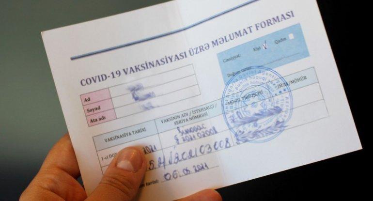 Bu xidmətlərindən yalnız COVID-19 pasportu olan şəxslər istifadə edə biləcək